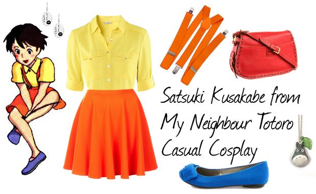 Casual cosplay of Satsuki Kusakabe (from My Neighbour Totoro anime)-- character inspired outfit