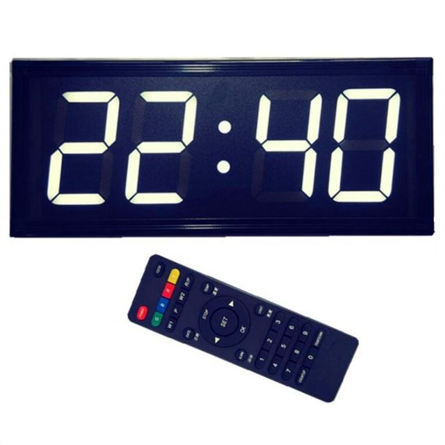 Large Size Outdoor Led Remote Control Wall Clock Electronic