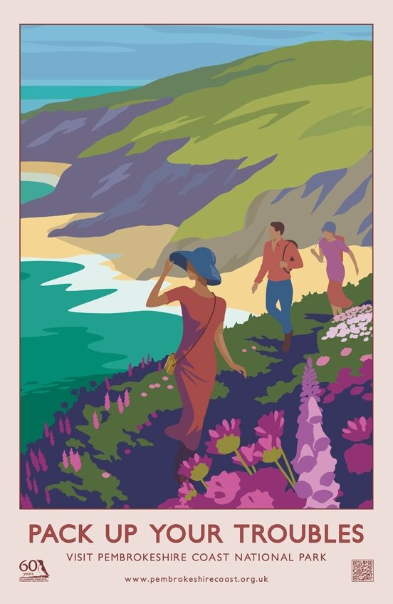 Pack up your troubles portrait Vintage travel beach poster style #essenzadiriviera