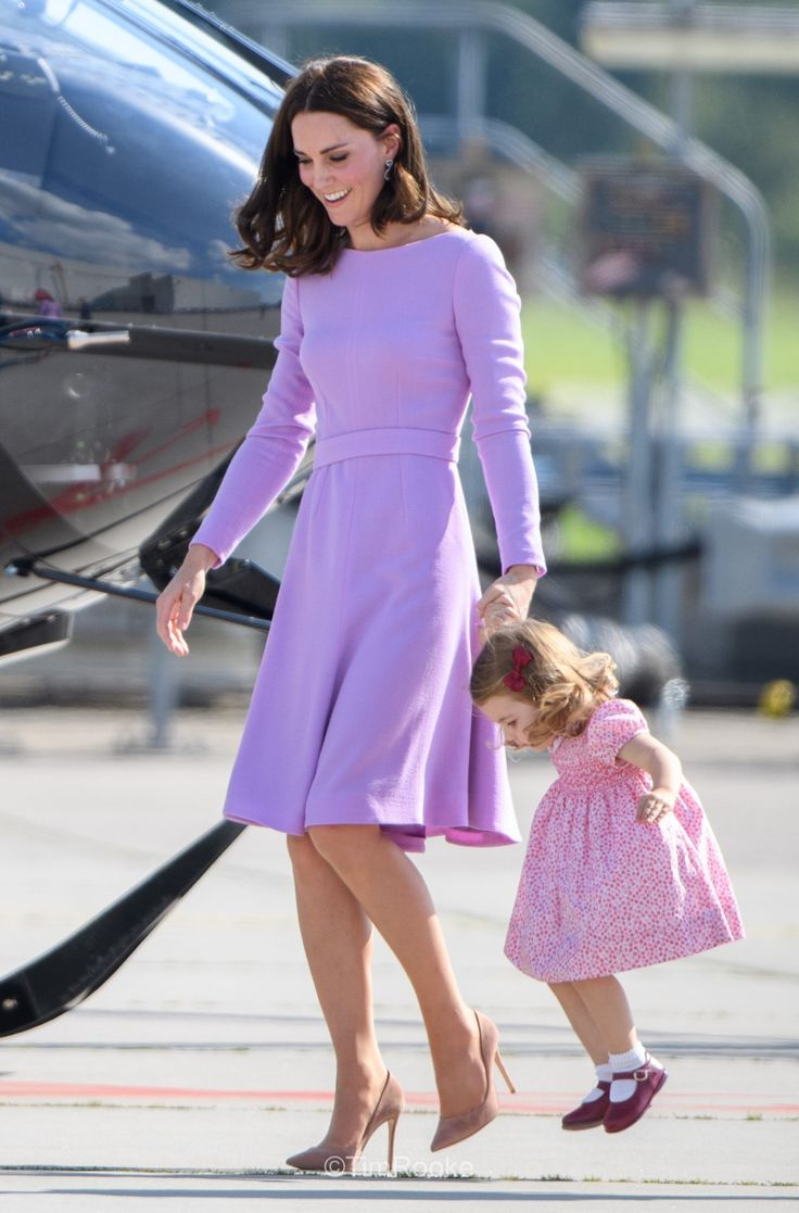 Catherine ,Duchess of Cambridge & HRH Princess Charlotte.