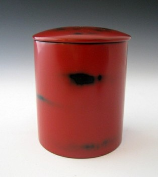 Lacquer tea caddy for tea ceremony