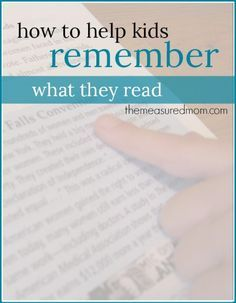 This reading comprehension strategy will help kids learn to read with purpose, summarize, and remember what they read.