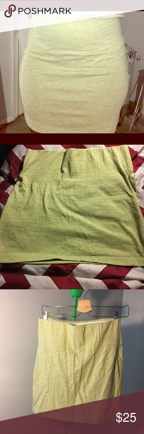Mini pencil skirt Stretchy, mini pencil skirt with elastic waistband. It's been worn once. Perfect condition, just wrinkled. BCBGeneration Skirts Pencil