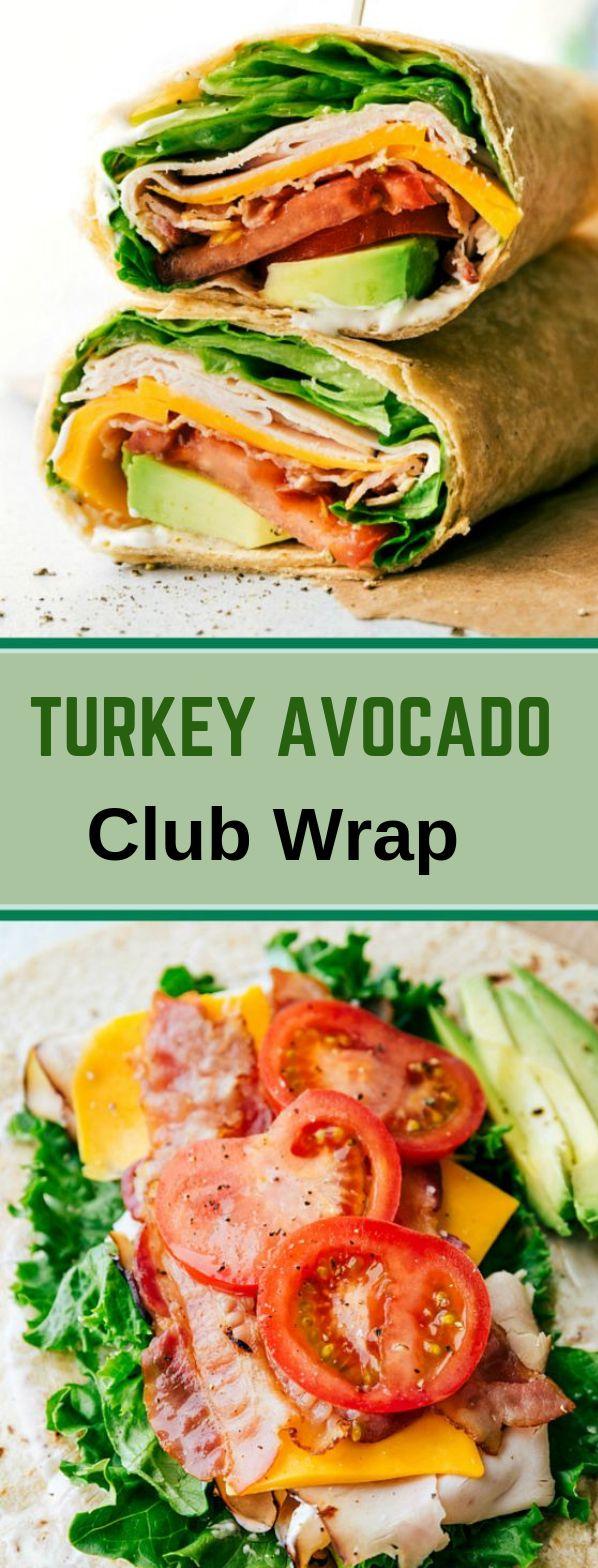 Truthahn Avocado Ranch Club Wraps #diet #delicious   – Healthy diet Recipes