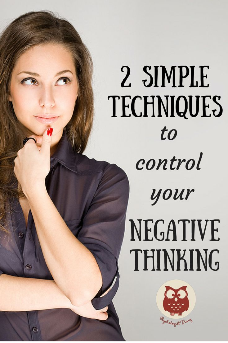 Here are two techniques that you can practice when you feel that the negative thoughts or emotions occupied your mind.