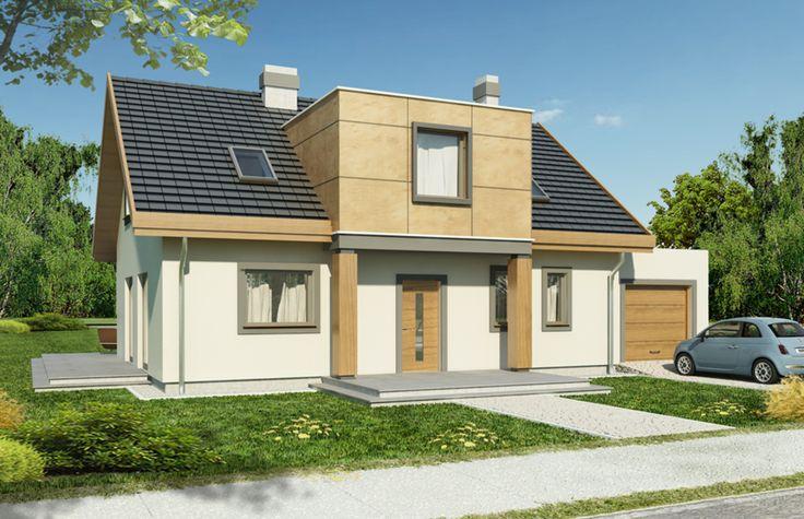 Elegancki, prosty i energooszczędny dom dla 4-5 osobowej rodziny.