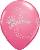 """Μπαλόνια Λάτεξ 11"""" Glitter Princess Ast White and Rose /25 τεμ"""