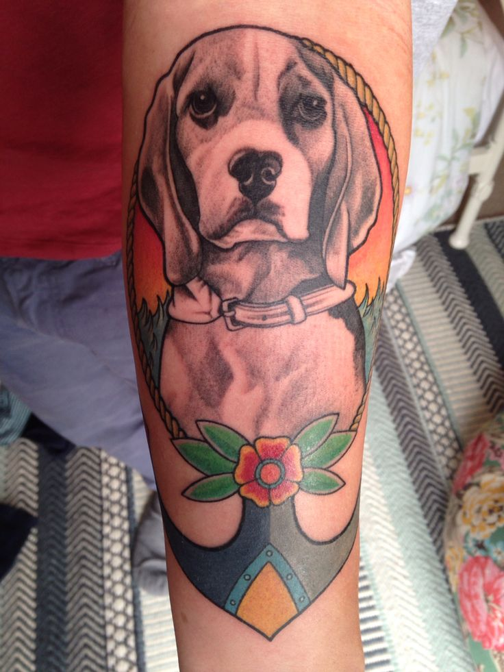 Beagle tattoo