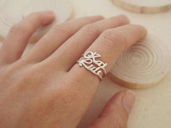 Stackable Name Ring - Personalized Name Ring - Names Ring - Children Name ring - Keepsake Jewelry in Sterling Silver - Bridesmaid Gift
