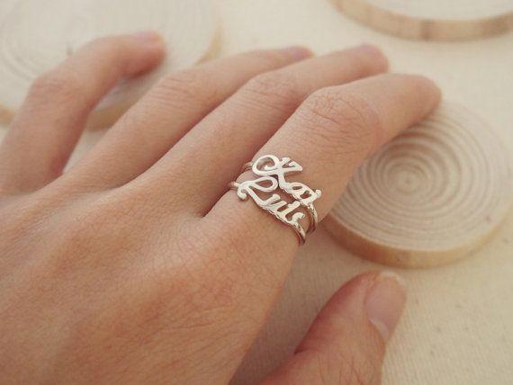 20 % RABATT benutzerdefinierten Namen Ring von CaitlynMinimalist