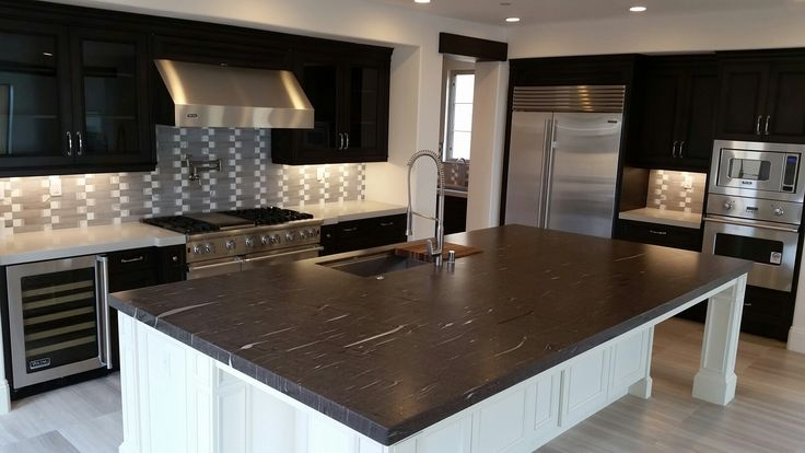 Kitchen With Meteor Shower Aka Brown Silk Quartzite