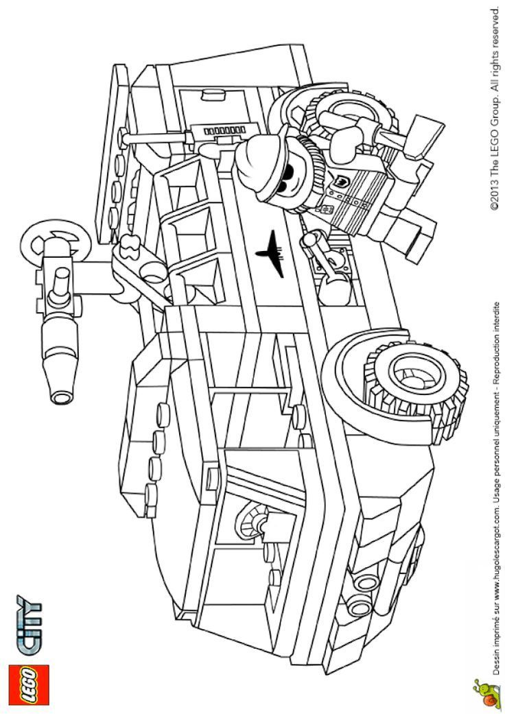 Coloring lego city fire truck all terrain - #coloring # ...