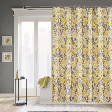 Perfect Home Essence Milan Microfiber Shower Curtain