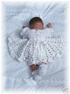 Baby Crochet Pattern Dress and Shoes Sweet as by GenekaCrafts