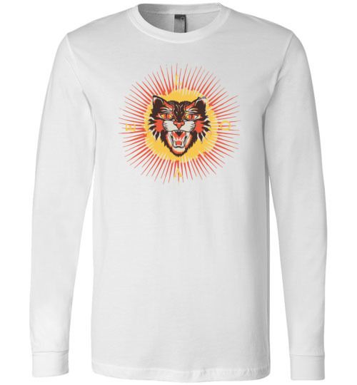 Gucci Angry Cat Painting Long Sleeve T-Shirt in 2019  5a141d15c