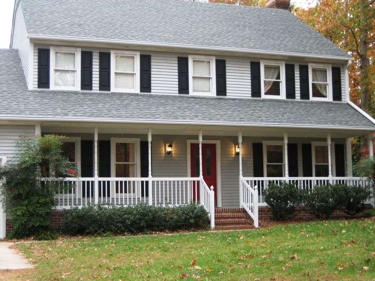 Beautiful Black Siding White Trim