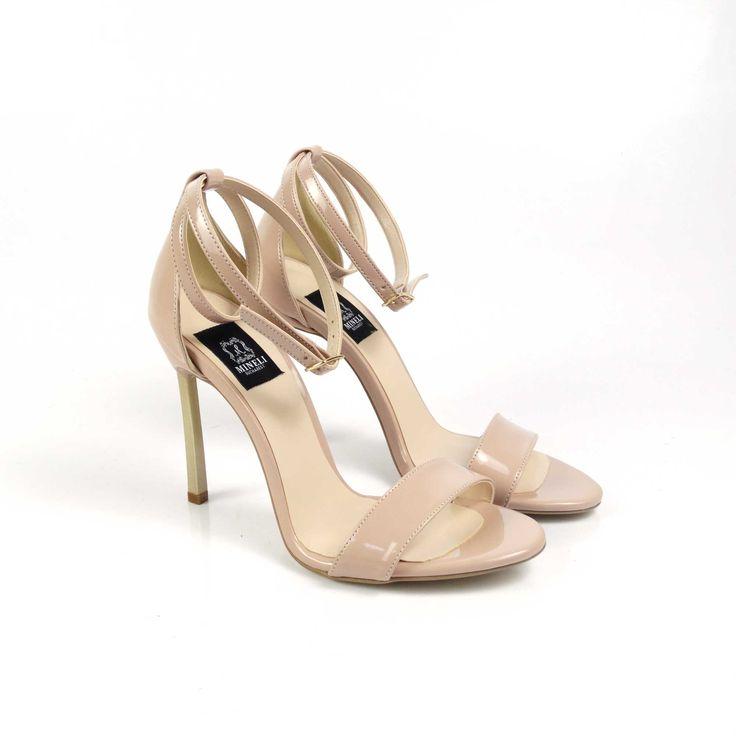 Sandale de damă Mineli Liana Nudesunt lucrate din piele beige. La comanda se pot lucra si pe alte nuante si texturi. Inaltime toc: 11 cm