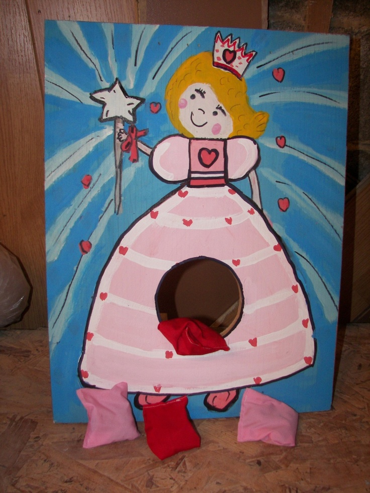 Princess    Corn hole  game   with 4 bean bags by windsor48, $10.99
