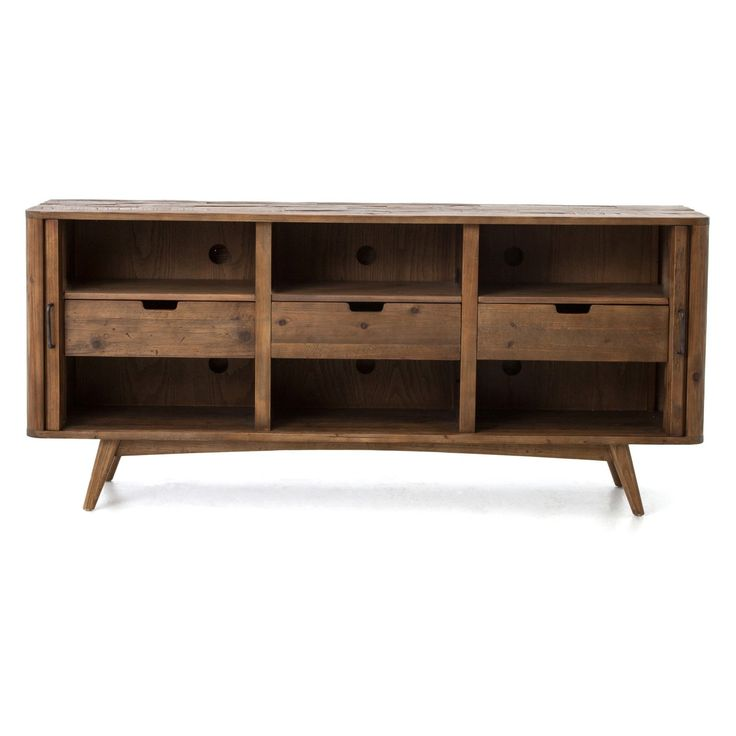 Four Hands Danny 78 in. Media Console TV Stand - Bleached Pine - CIMP-7U