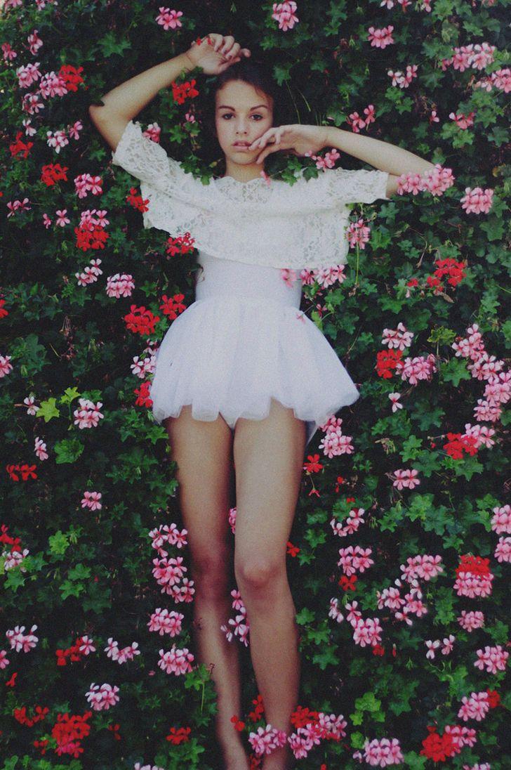 flower teenage girl