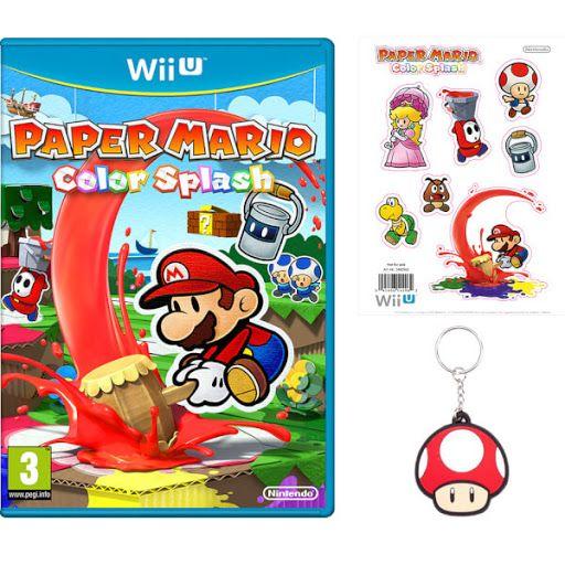 Nintendo UK - Paper Mario: Color Splash keyring, sticker set preorder bonus