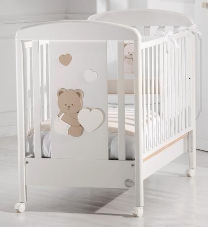Baby Expert Детская кровать Balu белая/светло-коричневая  — 45800р.  Изящная кроватка Balu с медвежатами для сладких и уютных снов!