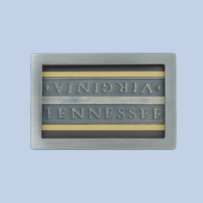 Bristol, Va, Tenn Marker belt buckle by dbvisualarts  You can flip the marker to the Virginia side or contact me and I will do that for you.