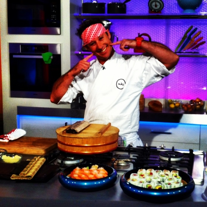 Shaun Presland behind the scenes of Channel 9's Mornings show