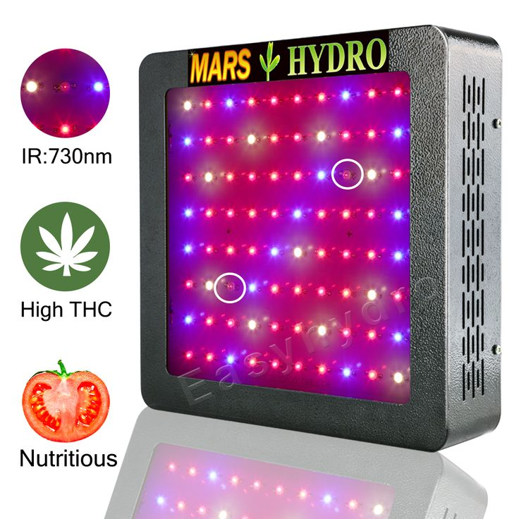 MarsHydro Mars II 400W Indoor Hydro LED Grow Lights for Full Spectrum veg bloom medical herb plants, with growth bloom switches,IR, best cooling system.save electricity bill.
