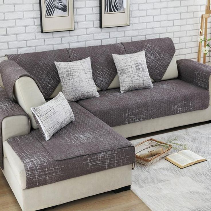 100 Cotton Sofa Cover Set Sectional Slip Cover Sofas