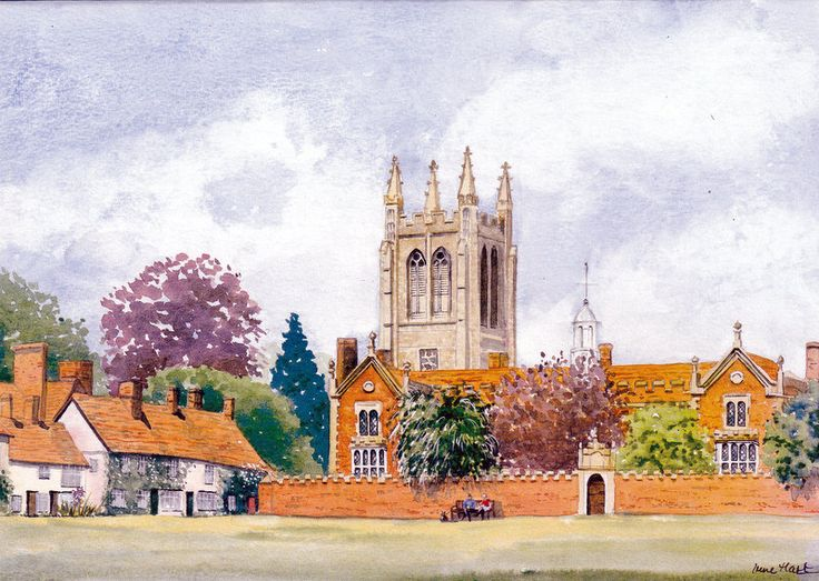 The Old Hospital & Church, Long Melford