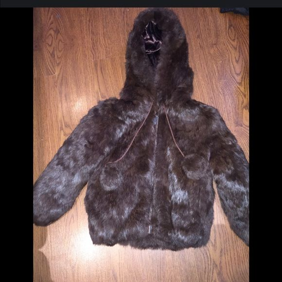 Unisex  kids mink  coat with hood This is rabbit fur like new it was my daughter like new Knoles & carter  Jackets & Coats