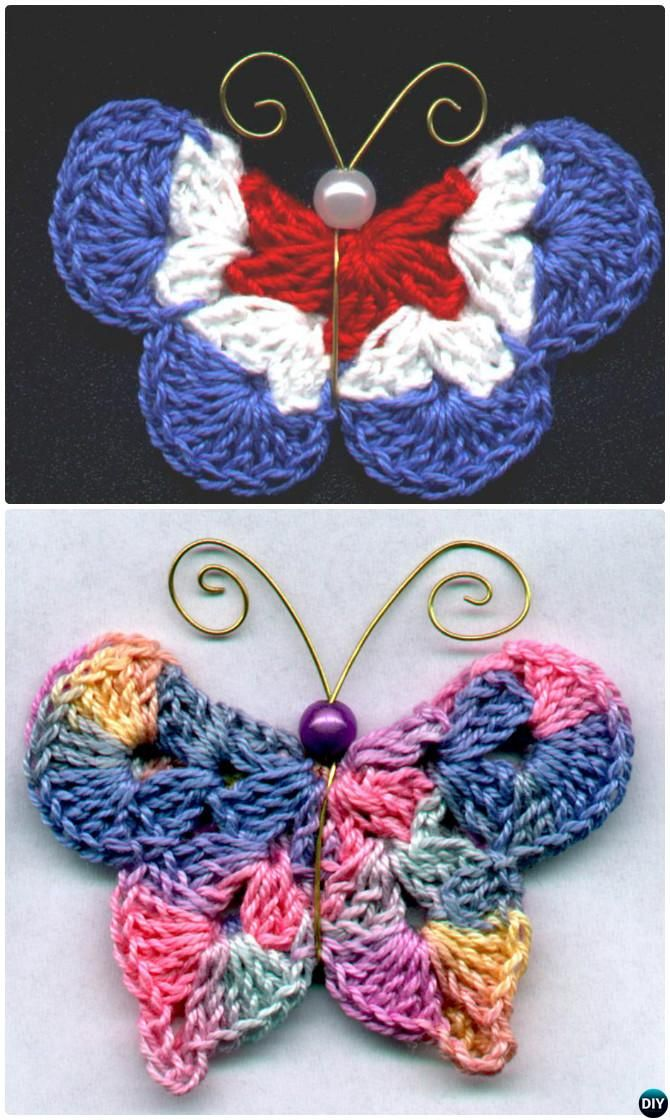 18 Crochet Butterfly Free Patterns [Picture Instructions]