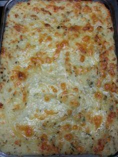 Twice baked mashed potatoes....