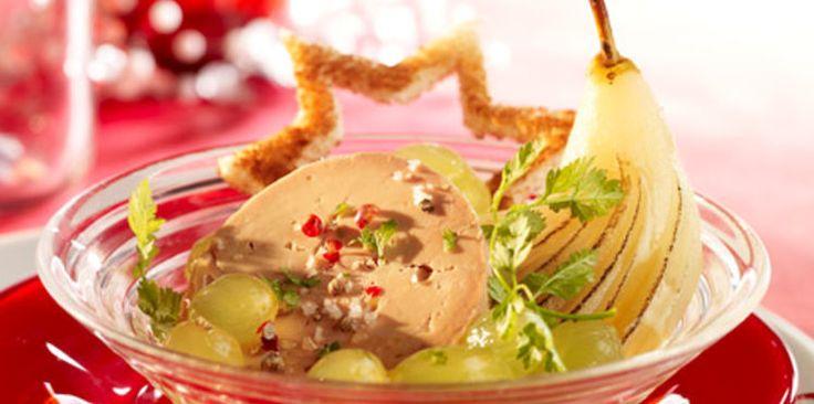Foie gras d'oie et fruits au porto
