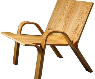 Creating a bent plywood chair