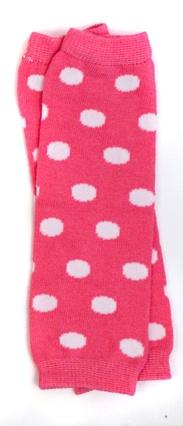 Pink Polka Dot Newborn Leg Warmers