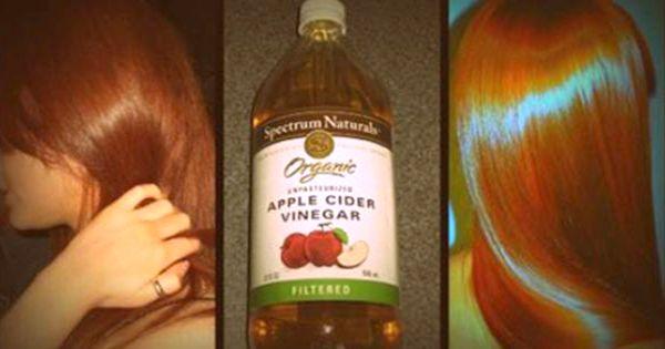 Вот почему нужно полоскать волосы раствором обычного яблочного уксуса!