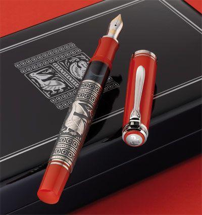 Pelikan estilográfica Toledo Rojo M910 M710