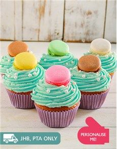 Unique Baby Gifts: Turquoise Macaroon Cupcakes!