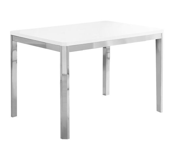 Monarch Specialties Monarch 31 5 In X 47 5 In Metal White Dining