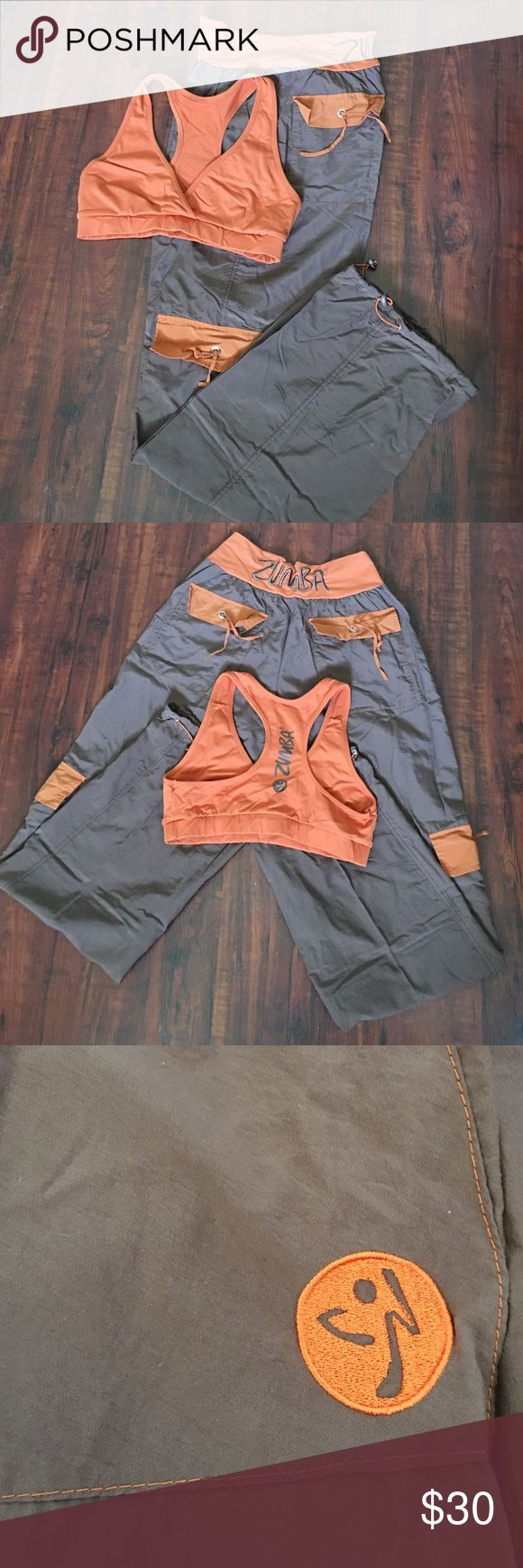 Zumba outfit Hardly worn-brown and orange, cute! Pants Track Pants & Joggers