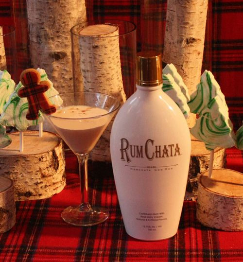 RumChata Gingerbread Martini    3 parts RumChata  1 part Torani gingerbread syrup (or substitute Hiram Walker Gingerbread Liqueur)  2 parts vanilla rum    Shake with ice and strain into a martini glass. Garnish with gingerbread cookie crumbles.