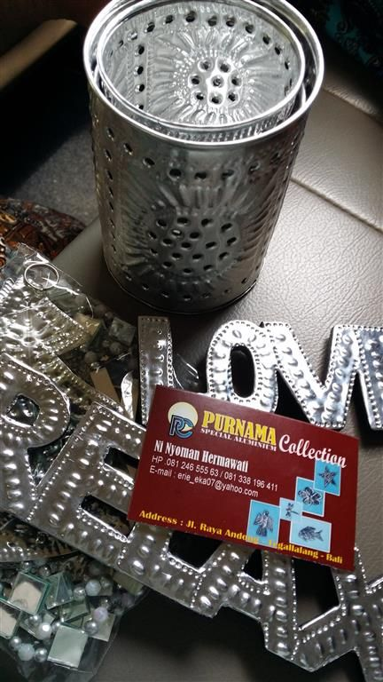 Signs + Candle Holders - Tegallalang Shopping Strip