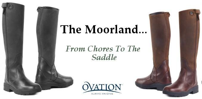 The Ovation Riding Moorland, is a workmanlike riding boot that can take you from chores to the saddle. Available in both mens and womens sizes! #ovationnation Photo: Victory Canter