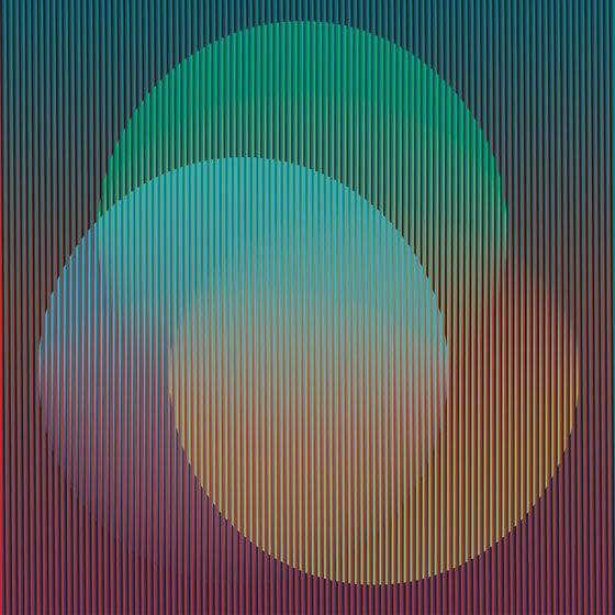 Creación de formas mediante rayas y colores.
