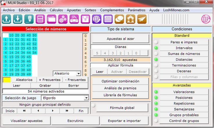 #El Gordo domingo 11.Jun.2017: Crear combinaciones acotando números y condicionando vía gráficos de evolución. http://www.losmillones.com/foro/index.php?topic=20432#top