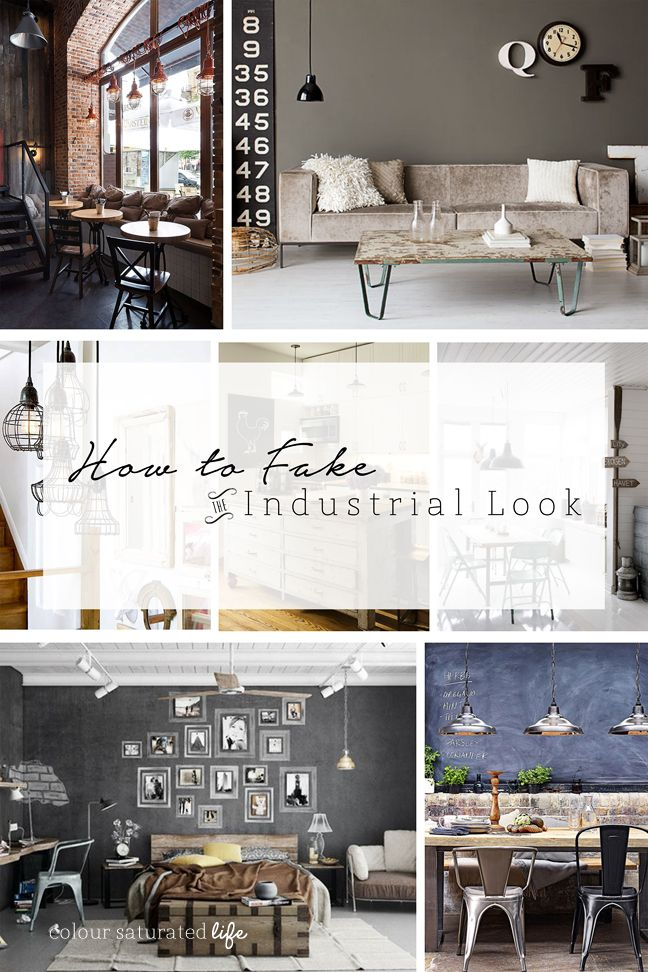 """If you have been anywhere near Pinterest or watched a design show lately you would be aware that the """"Industrial Style"""" is hugely popular at the moment in the design world and amongst interior design bloggers. The style is defined by its use of salvaged objects & raw exposed interior…"""