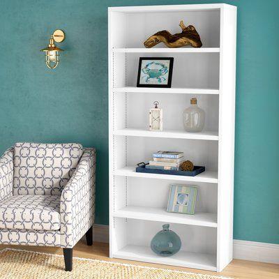 Beachcrest Home Emerson Standard Bookcase Color Warm White Size