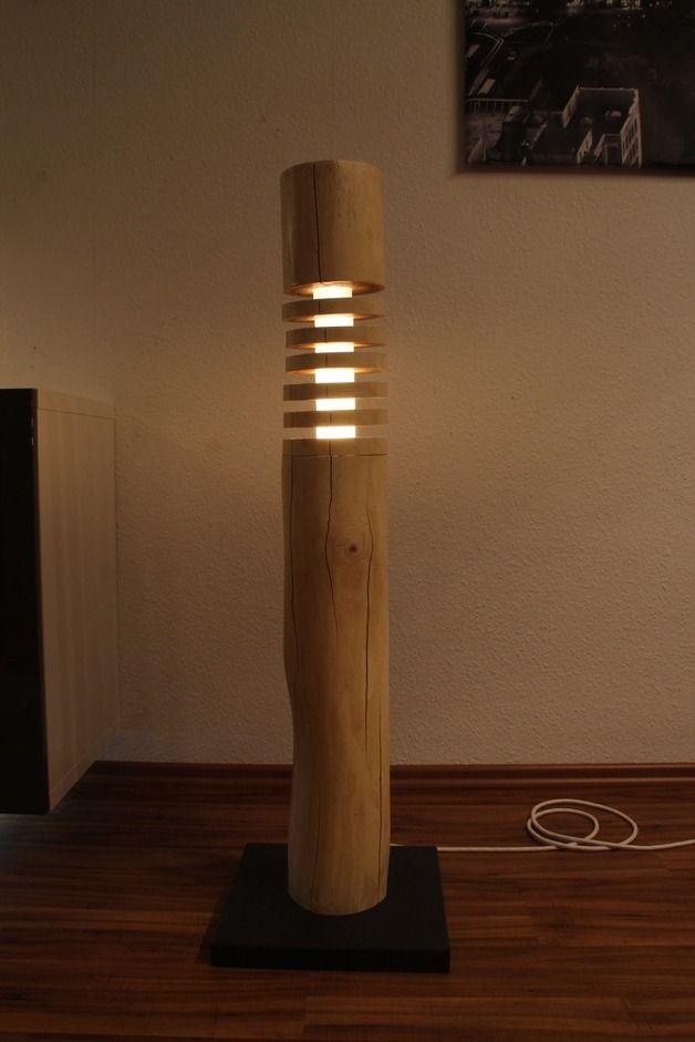 Stehlampen Theshiningwood Stehlampe Aus Holz Led Rgbww